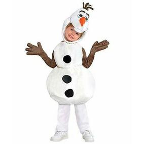 Disfraz Olaf Frozen, Disney Talla 2, Importado