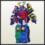 Samurai Megazord - Power Ranger - 50 Cm Para Armar - Paper