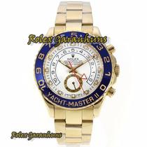 Rolex Yacht Master Ii Caixa Automática De Ouro Azul Bezel