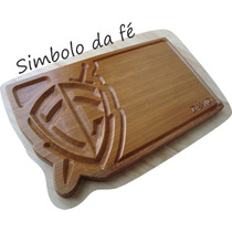 Tabua Carne Churrasco Simbolo Da Fe Times Nome 50x30x3,5
