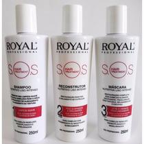 Hair Treatment Kit Sos Shampoo + Resconstrutor + Máscara 250