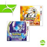 Pokemon Luna/moon Sol/sun Para 3ds Nintendo, Nintendo 3ds