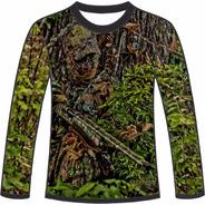 Camiseta Camuflada Manga Longa Caçadores Brs Atirador 1