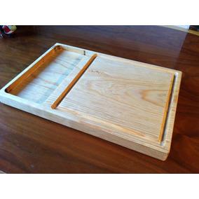 Tabla Plato Carnes Asado Madera 25x37cm Juego 10 Pzas