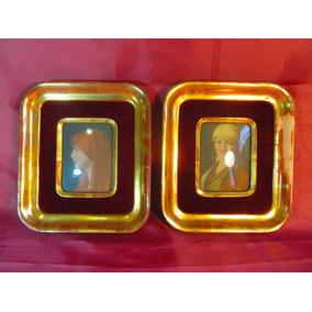 el arcon par de cuadros de madera marco dorado oro