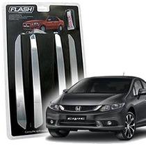 _friso Para-choque Cromado Honda New Civic 11 12 13 Jg 4pçs