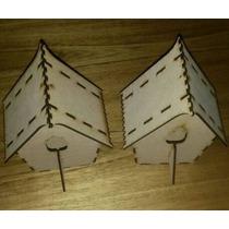 Casa De Pajaritos Corte Laser De Fibrofacil