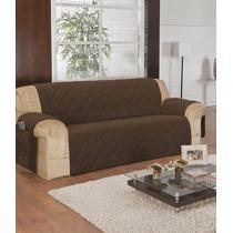 Kit C/ 1 Capa Protetor Sofa 3 Lugares E 2 Prot Poltronas