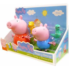 Peppa Pig Set Muñeco Papa George Teddy Dinosaurio Original