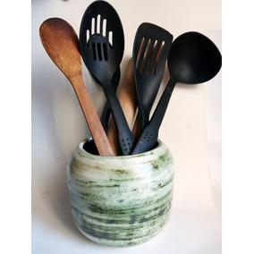 Cocina porta cucharas grande ceramica talavera gto for Porta cucharas cocina