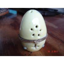 Huevo De Porcelana Con Abertura De Metal