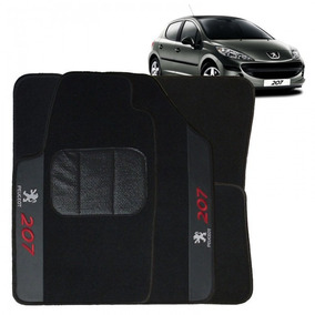 Jogo De Tapete Carpete Automotivo Bordado Peugeot 207
