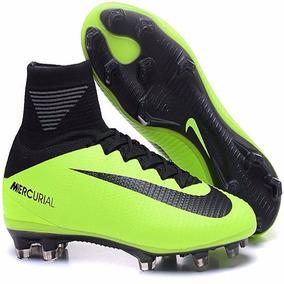 7760d6d5b321f Nike Mercurial Preta E Verde Safari. Promoção Lançamento - Chuteiras ...