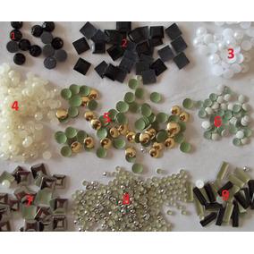 Kit Com 1.500 Tachas Diversas E Perolas -