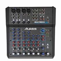 Mixer Mezcladora De Audio Alesis Multimix 8 Usb Fx 8canales