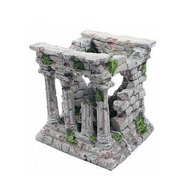 Enfeite Para Aquario Ruina Romana Em Resina