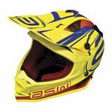 Capacete Moto Asw Fusion Amarelo Flúor 58