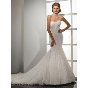 Vestido De Noiva Sereia Maggie Sottero Lindo Tomara Que Caia