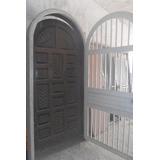 Vendo Puerta De Madera Maciza Tallada Y Su Reja