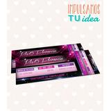 Invitación De 15 - Tarjeta De Quince Disco Para Imprimir