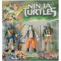 Kit Tartarugas Ninja Filme 6 Bonecos Articulados - Frete Gra