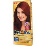 Coloração Cor & Ton 50g - 7.46 Loiro Cobre Avermelhado