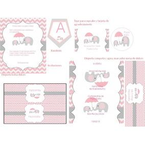 Kit Imprimible De Elefantes Para Cumpleaños Y Baby Showers