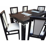 Mesa Extensible 1,60a2,00 C/vidrios+6 Sillas,línea Premium!!