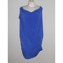 Worthington Moderna Blusa Azul Sin Mangas Cuello Columpio 3x