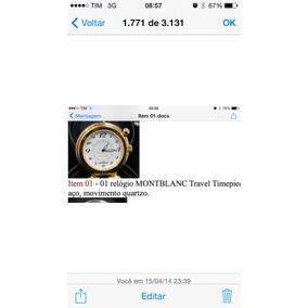 Relógio Montblanc De Bolso Novo Lindo