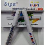 Marcador Esmalte Pintura Trazo 3.0 Mm Blanco