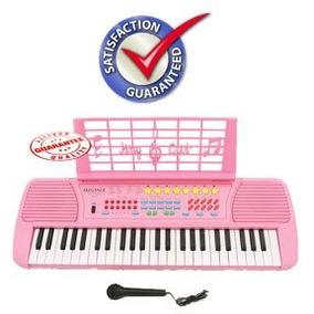 Los Niños 49 Teclas Electronic Piano Keyboard Music Pink Kb