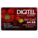Error Tarjeta Gsm Digitel 64 Kb - Venezuela