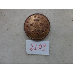 M - 2109 - Moeda Inglaterra 2 New Pence!!!