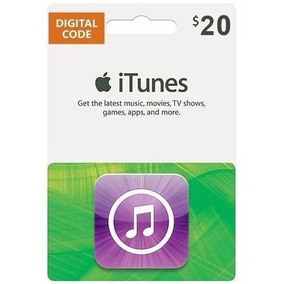 Cartão Itunes Gift Card $20 Dólares - Contas Americanas