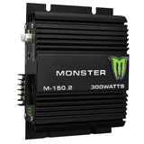 Potencia Monster 300watts 2 Canales 60rms M-150 Auto Barco