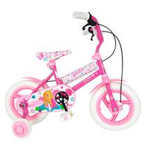 Bicicleta Para Nena Rodado 12 Barbie Peppa Pig Rueditas