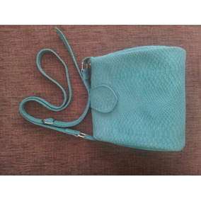 Bolsa De Couro Leg. (camurça) Verde Feminina