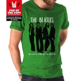 Polera The Beatles Serigrafía Artística - Variedad Colores