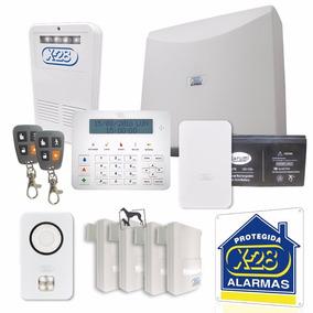 Kit Alarma Casa X-28 Full 8zonas Celular Luz Emerg Mascotas