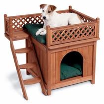 Casa Casita Para Perros Mascotas Madera Vv4