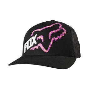 Gorra Fox Mujer Reacted Negra Motocross Mtb Downhill