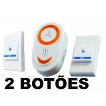 Kit Campainha Sem Fio 2 Botões Com Receptor Tomada 110 Volts