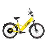 Bicicleta Elétrica Woie Golden Fabricada No Brasil - Amarelo