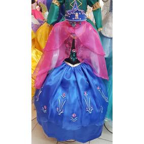 Vestido Princesa Ana Frozen Regalo Tiara Estrella Nupcialesd