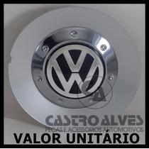 Calota Tampa Centro Roda Scorro S182 Vw Aro 14|15|17 Prata