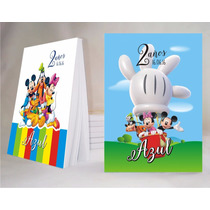 Mickey Mouse Souvenir Anotador Personalizado X32!!!