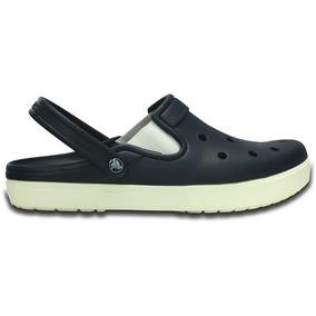 Zapato Crocs Unisex Caballero City Sneaks Slim Azul Marino