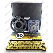 Kit Relação Transmissão Black Vaz Dourado Cbx 250 Twister 8
