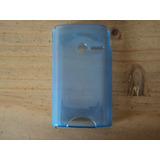 Funda Silicona Para Sony Ericsson W150 Yizo/azul Trasparente